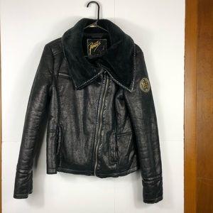 Jackets & Blazers - Joshua Perets faux leather/fur jacket